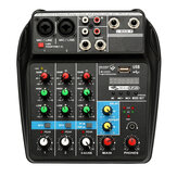 TU04 Mezclador de audio Consumidor profesional de mezcla de 4 canales Bluetooth energía Monitor Rutas Plus Procesador con efecto Enchufe de la UE con USB