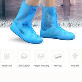 Wanita Tahan Air Transparan Non-slip Reusable Meliputi Sepatu Hujan Tinggi Atas
