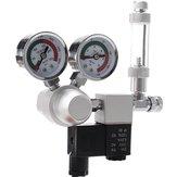 Acuario Sistema de doble indicador de CO2 Regulador de presión Contador de burbujas Solenoide Acuario Bomba de aire Contador