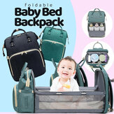 Diaper Backpack With Changing Bed Waterproof Multifunctional Mommy Bag Portable Folding Bag Backpack