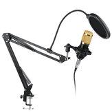 BM-800コンデンサーマイクライブスタジオボーカルレコーディングマイクマウントブームスタンドキット