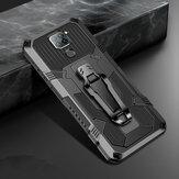 Bakeey voor Xiaomi Redmi Note 9/Redmi 10X 4G Case Dual-Layer Robuust Armor Magnetisch met riemclip Stand Antislip Anti-vingerafdruk Schokbestendig Beschermhoes Niet-origineel