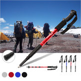 1Pcs Folding 4-Section Trekking Camping Hiking Climbing Sticks Anti-shock Emergency Tool