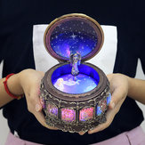 Vintage Zodiac Luminous Music Box with LED Lights Birthday Valentine's Day Gift Constellation