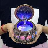 Vintage Zodyak Aydınlık Müzik Kutu LED Işıkları ile Doğum Günü sevgililer Günü Hediye Takımyıldızı