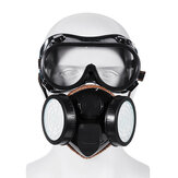 2 in 1 Gas Mask Double Filter Anti Gas Chemical Pesticide Respirator 300Hours Used