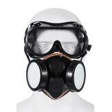 2 in 1 Gas Maschera Doppio filtro Anti Respiratore per antiparassitari chimici per gas 300 ore usate