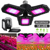 126 LED Grow Lights Panel Full Spectrum E27 LED Plant Growth Greenhouse Lamp