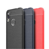Bakeey Anti-fingerprint Litchi Silicone Soft Protective Case for Xiaomi Redmi 7/ Redmi Y3