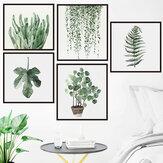 Autoadesivi smontabili autoadesivi della parete del fondo delle foglie verdi di DIY per le decorazioni del balcone della cucina della camera da letto domestica