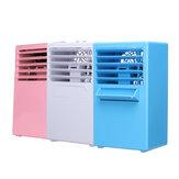 3 couleurs 24V 3 vitesse du fichier 5 feuilles ventilateur humidification par pulvérisation mini climatisation