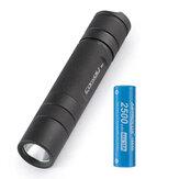 Convoy S2+ Black L2 7135x8 3/5mode EDC LED Flashlight with 1Pcs Astrolux® E1825 2500mAh 18A 3.7V 18650 Li-ion Battery