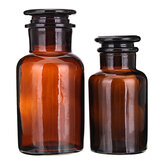 Amber Glas Wide Mouth Bottle Kemisk Reagens Opbevaringsflasker Lab Glasware 60/125/250 / 500mL