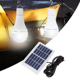 ポータブル7WソーラーパネルUSB充電式キャンプライト20 COB LEDバルブランプ屋外緊急用