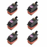 6PCS MG996R Metal Gear Digital High Torque Servo 55g For RC Airplane