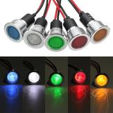 19mm 12V LED Panneau Pilot Dash Indicateur de la lumière Lumière de signalisation de bateaux de voiture