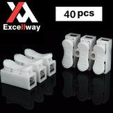 Excellway® CH3 Conector de fio rápido Conector de mola do bloco de terminais Conector de fio de luz de faixa de LED