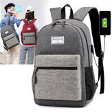 Oxford Cloth Laptop Bag Backpack Travel Bag With External USB Charging Port For 13 Inch Laptop Tablet