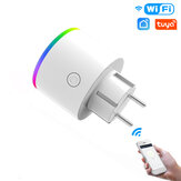MoesHouse Wi-Fi Smart Plug Wireless RGB Power Разъем Приложение Smart Life / Tuya Wireless Дистанционное Управление Работа с Alexa Google Home