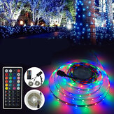 3M 5M 10M LED Strip Light SMD3528 RGB + IR Remote Controller + Power Adapter Decorative Lighting DC12V