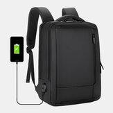 Mannen 15,6-inch USB-oplaadzak voor zakelijke laptoptas