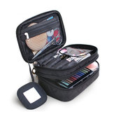 Nylon Double Layer Portable Storage Bag Cosmetic Bag