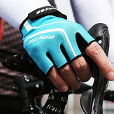 Summer Half Finger Gloves Shock-absorbing Wet-draining For outdoor cycling