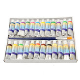 24 Colors 5ml Watercolor Paint Tube Artist Drawing Oil Painting + 2pcs Brushes