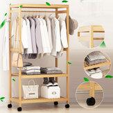 2-Tier houten kledingstuk Kledingstuk Hangend staand rek Huishoudelijke kleding Opbergplankstandaard
