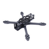 STEELE 5 220mm Wheelbase 5mm Arm Thickness Carbon Fiber X Type 5 Inch Freestyle Frame Kit Support DJI Air Unit for RC Drone FPV Racing