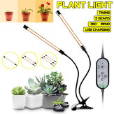 Dimmable 1/2/3 Heads LED Grow Light Planta 5730 Growing Lamp com clipe para hidroponia interna Plantas