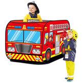 Casa da gioco pieghevole Tenda da gioco per bambini Camion dei pompieri Auto della polizia Scuolabus Camion dei gelati Modello di casa Tenda giocattolo per bambini