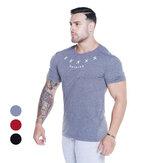 İnce Erkek T-Shirt Nefes Alabilir Hızlı Kuruma Soft Kısa Kollu Outdoor Spor jogging Yürüyüş