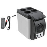 12V 6L Car Refrigerator Freezer Cooler Hot Warmer 2 In 1 for Cars