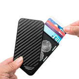Bycobecy YM986 Carbon Fiber Aluminium Card Holder RFID Blocking Package Cover Type for Credit Card and Key Holder Storage Business Wallets Δώρα