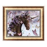 Cavallo Farfalla 5D Diamante Ricamo Pittura Punto Croce Pittura Fai Da Te Strumenti Decorazioni Murali Fatte A Mano Regali 30 * 40 cm