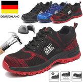 TENGOO Veiligheidsschoenen voor heren Werkschoenen Stalen neus Antislip Ademende hardloopschoenen Mesh antislipschoenen Sneakers