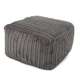 Seat Footstools Foot Rest Stool Pouffe Ottoman Furniture Beanbag Corduroy Cover