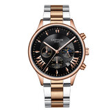 GADYSON A0701 Fashion Men Watch Date Display Επιχείρηση από ανοξείδωτο ατσάλι λουράκι χαλαζία ρολόι