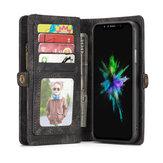 Caseme Magnetische Afneembare Rits Portemonnee Cash Pocket Kaartsleuven Beschermhoes voor iPhone XR