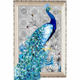 5D Diamant Stickerei Malerei DIY Blue Peacock Stitch Craft Home Decor