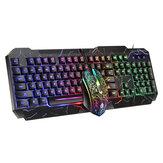D620 104 Tuş RGB Arka Işık Mekanik Duygu Klavye ve 1600 DPI RGB Oyun Mouse