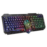 D620 104Key RGB Backlight Mecánico Feeling Teclado y 1600 DPI RGB Gaming ratón