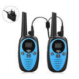 Una coppia di XF-508 0,5 W Mini Kids Walkie Talkie Impermeabile 22 canali 1-3 km Distanza palmare Dual Banda Due vie Radio Interphone civile di guida