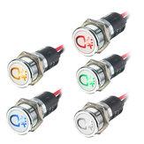 12V 14mm LED Gösterge Paneli Göstergesi Lamba Uyarı Işığı