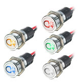 12V 14mm LED Dash Panel Indicator Lamp Warning Light