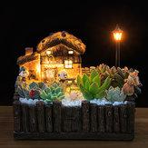Aydınlatma Glasse's Kabin Pot Zanaat Süsler Magic Fener Ev Ekici Bonsai Süslemeleri