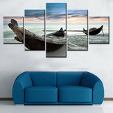 5SztukZestawŁódźNowoczesneBlejtram Malarstwo Wall Art Zdjęcia Home Decor Unframed