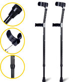 1Pc 98-126CM Adjustable Lightweight Soft Underarm Forearm Elbow Crutches Walking Stick