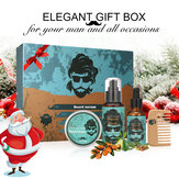 Y.F.M® 4 in 1 Organic Beard Growth Oil Balm Shampoo Serum Comb Kit Styling Tools Mustache Men Care Vitamin